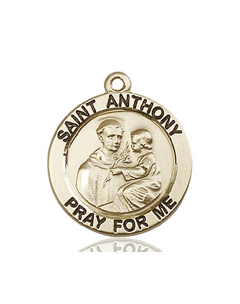 14kt Gold St. Anthony of Padua Medal