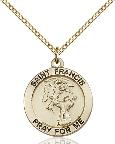 Gold Filled St. Francis Pendant
