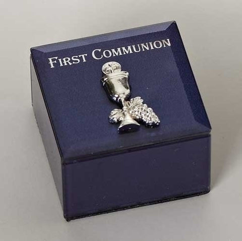 First Communion Blue Keepsake Box
