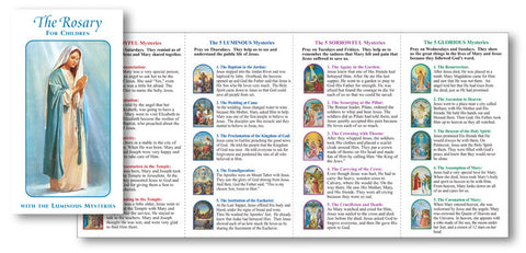 Rosary for Children Folder with the Luminous Mysteries