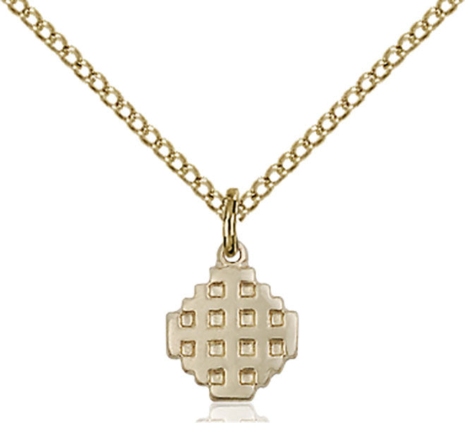 Gold Filled Jerusalem Cross Pendant