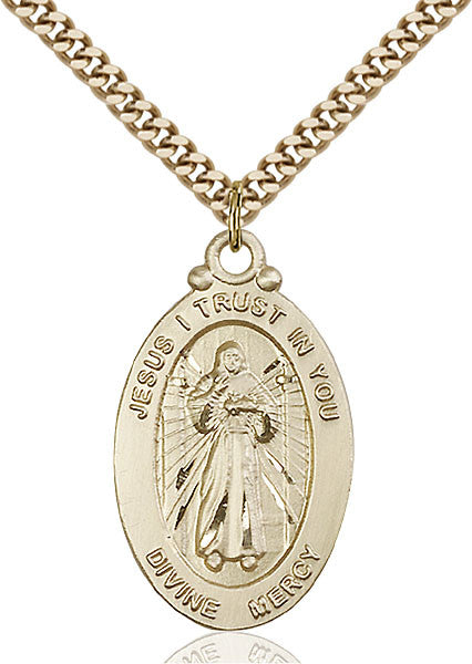 Gold Filled Divine Mercy Pendant
