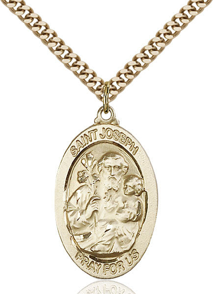 Gold Filled St. Joseph Pendant