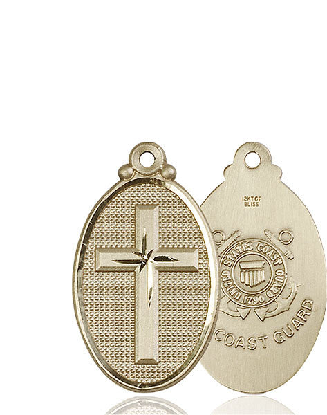 14kt Gold Cross / Coast Guard Medal