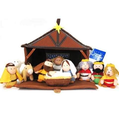 Plush Nativity 11 Pc Play Set