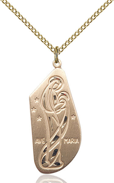 Gold Filled Ave Maria Pendant