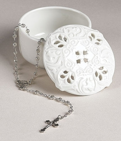 First Communion Rosary Box