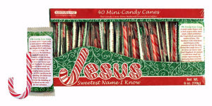 Candy Cane Box (40 Mini Canes) 6 Oz