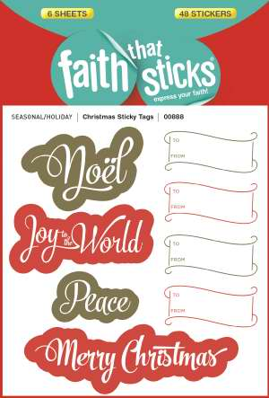 Christmas Sticky Tags ( Faith That Sticks )