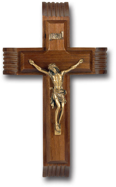 "10"" Walnut Sick Call Crucifix"