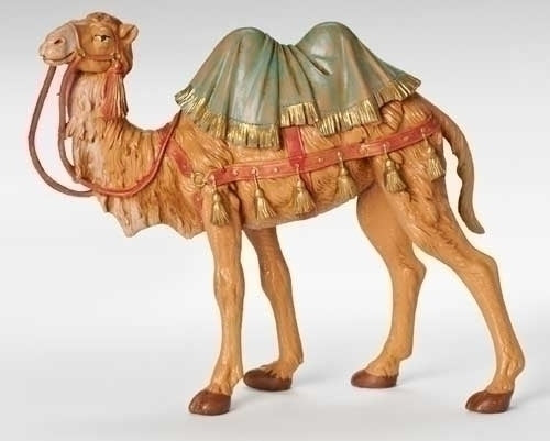 "7.5"" Scale Camel with Blanket Figure [Fontanini]"