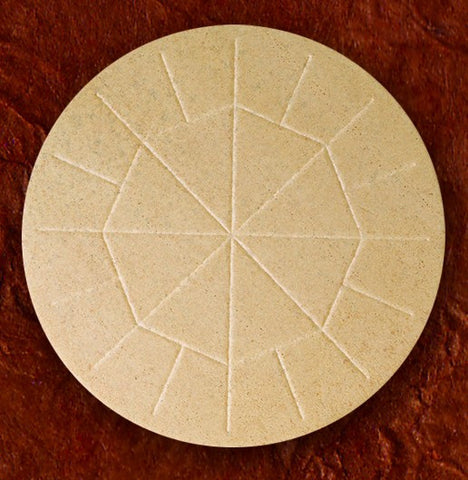 "Altar Bread-25 5 3/4"" whole wheat"