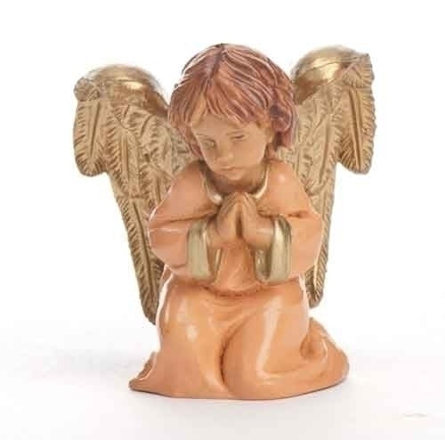 "Carmel, Praying Angel Figure, 5"" Scale [Fontanini]"