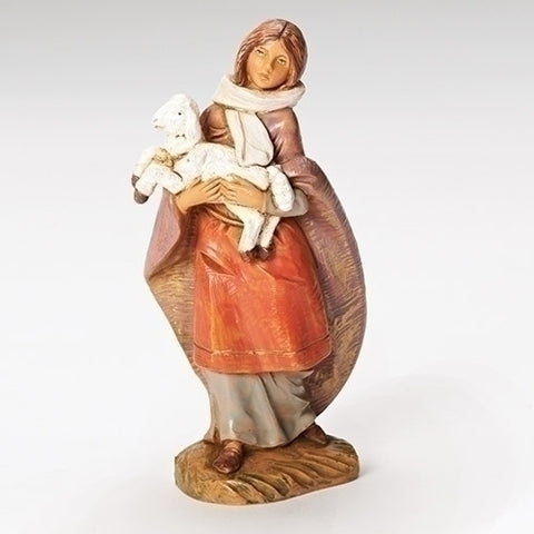 "Emma, Shepherdess with Lamb 5"" [Fontanini]"