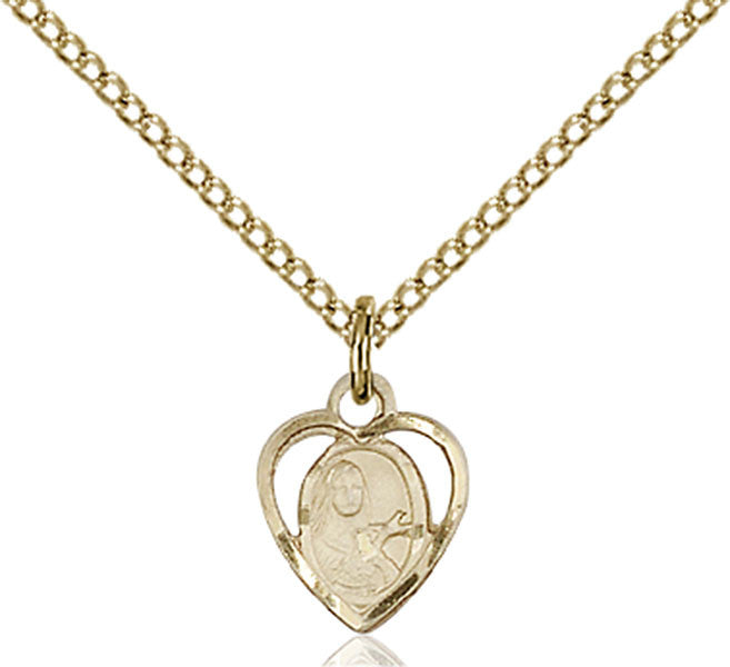 Gold Filled St. Theresa Pendant