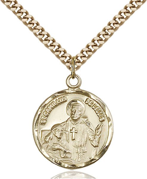Gold Filled St. Camillus of Lellis Pendant