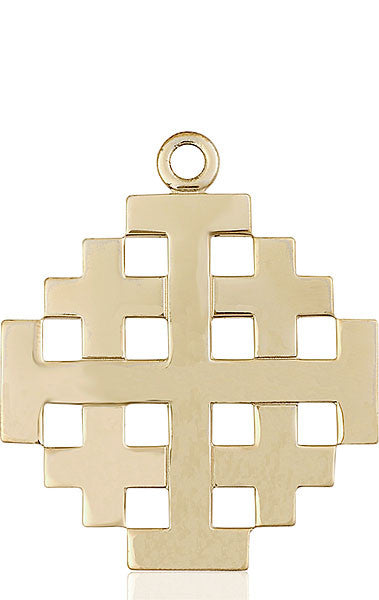 14kt Gold Jerusalem Cross Medal