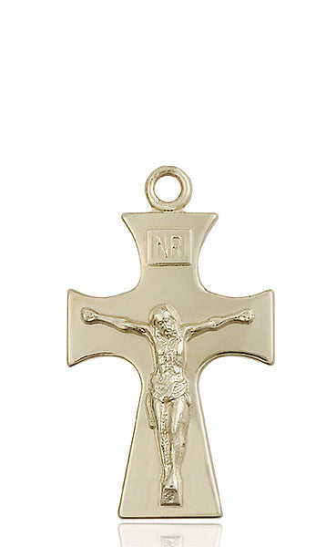 14kt Gold Celtic Crucifix Medal