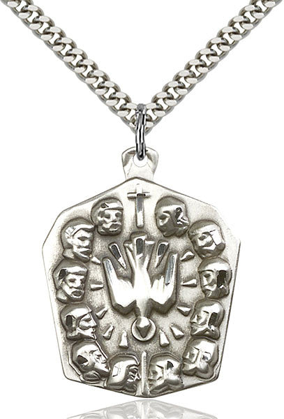 Sterling Silver Apostles Pendant