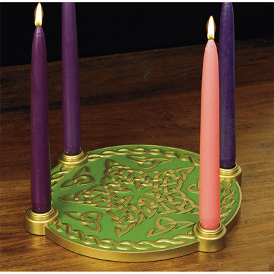 Celtic Knot Star Advent Candleholder