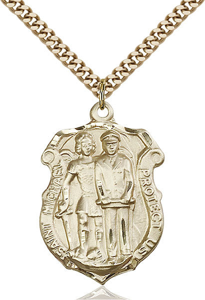 Gold Filled St. Michael the Archangel Pendant