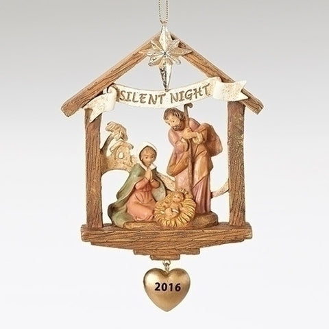 Holy Family with Heart 2016 Ornament [Fontanini]