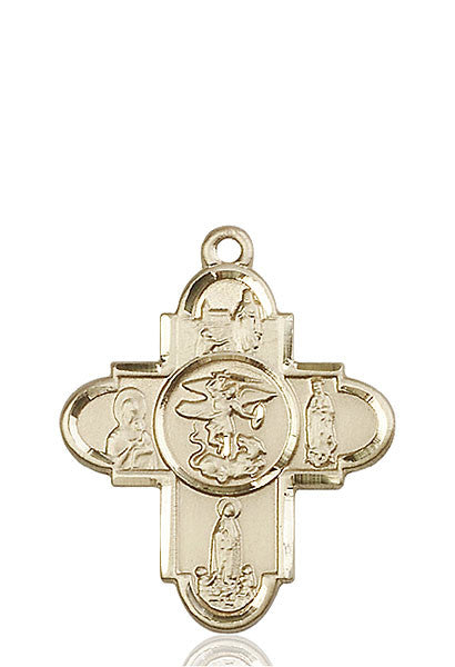 14kt Gold Our Lady 5-Way Medal