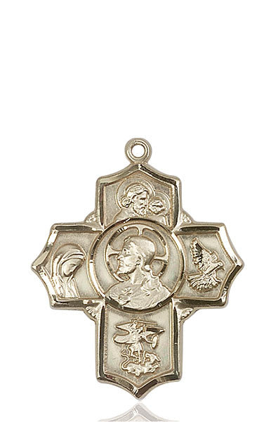 14kt Gold Sacred Heart 5-Way Medal