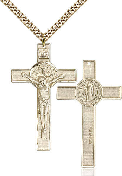 Gold Filled St. Benedict Crucifix Pendant
