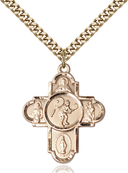 Gold Filled 5-Way Tennis Pendant