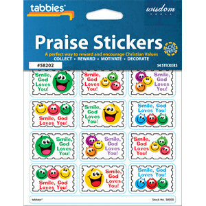 Praise Stickers Smile God Loves You!