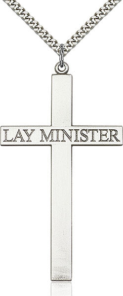 Sterling Silver Lay Minister Cross Pendant