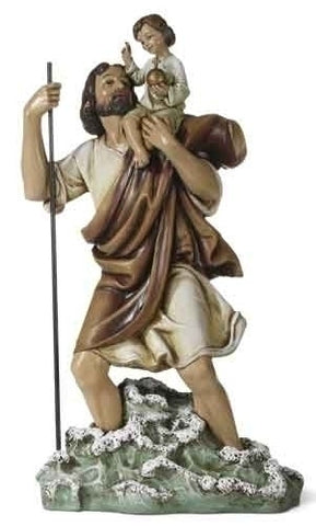 "10.75 "" St. Christopher figure"