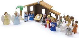 Nativity Playsets with Talking Mary Figurine