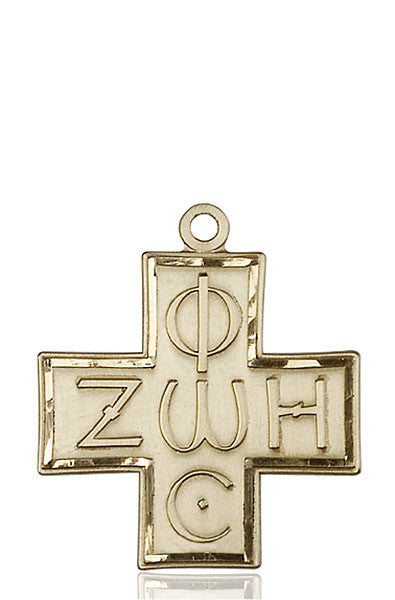 14kt Gold Light & Life Cross Medal