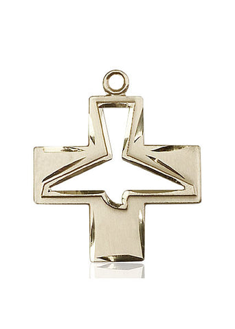 14kt Gold Holy Spirit Medal