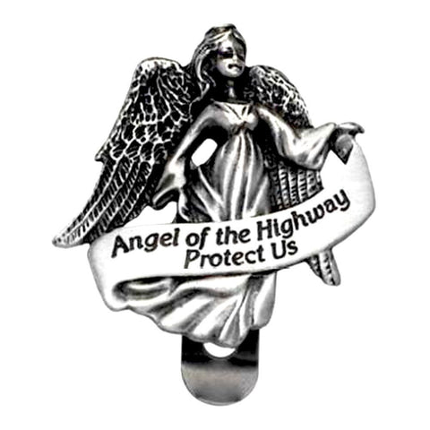 Angel Of The Highway Protect Us Visor Clip Carded
