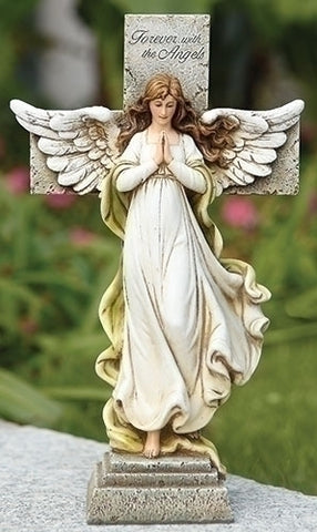 Memorial Angel Cross 12""