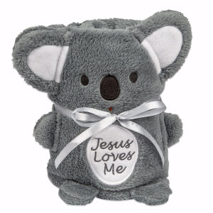 Koala Baby Blankie With Jesus Loves Me