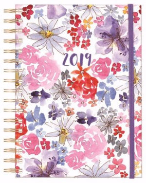 Uniquely Created/Floral Planner 2019 (6.75 x 8.625)