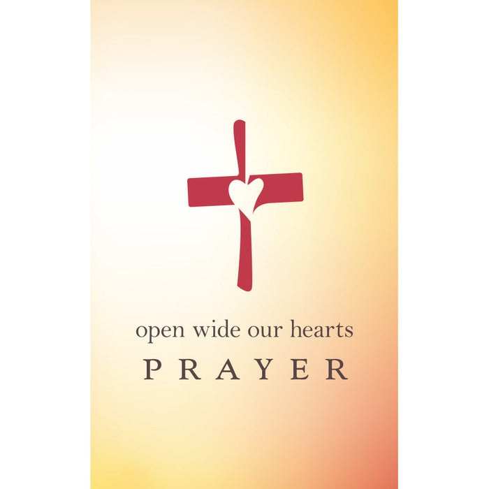 Open Wide Our Hearts Prayer Card