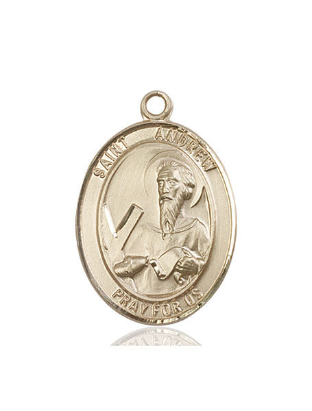 14kt Gold St. Andrew the Apostle Medal