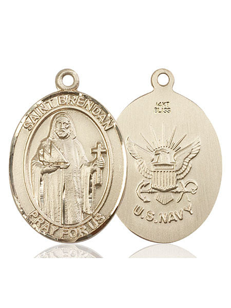 14kt Gold St. Brendan the Navigator/ Navy Medal