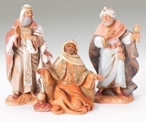 "Three Kings Figures, 3 Piece Set , 5"" Scale [Fontanini]"