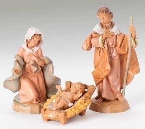 "Holy Family Nativity, 3 Piece Set , 5"" Scale [Fontanini]"