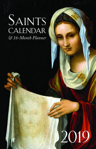 Saints Calendar & 16 Month Daily Planner 2019