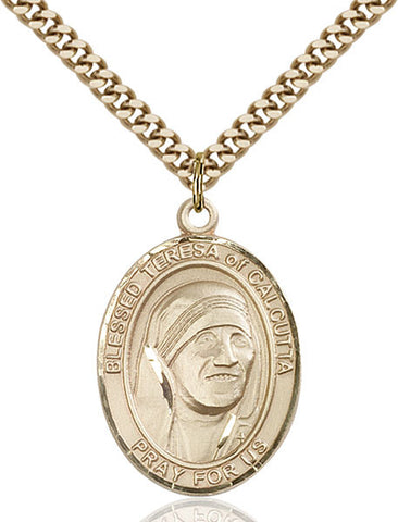 Gold Filled Blessed Teresa of Calcutta Pendant