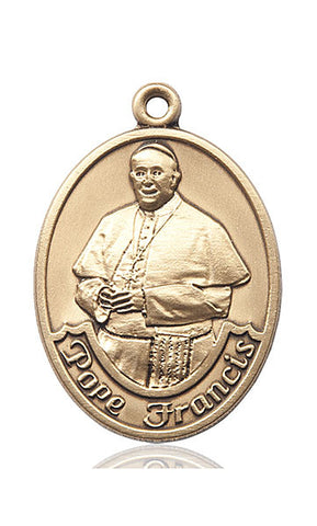 14KT Pope Francis Oval Medal