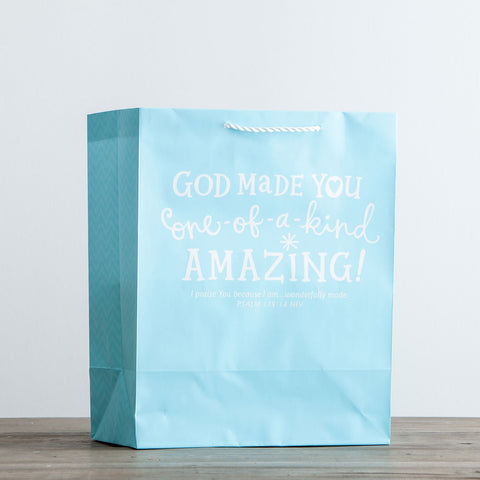 God Made You Amazing - Blue Gift Bag [large]