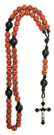 Basketball Sports Bead Rosary